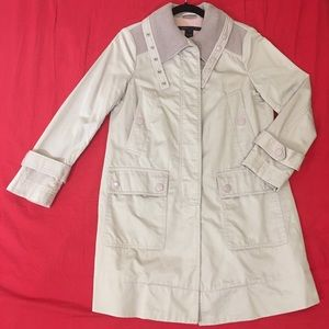 Marc Jacobs beige-pink pure cotton trench coat S